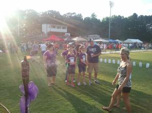 Hundreds of people took part in the Montgomery County Relay for Life, Fri., May 17, 2013, at West Montgomery High School. (Johnny Almond photo)