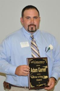 East Montgomery High School agriculture instructor Adam Garner was named the Montgomery County Schools Teacher of the Year, May 11, 2013. (MCS photo)